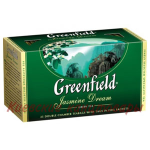 Чай зеленыйGreenfieldJasmine Dream25 пакетов х 2 г